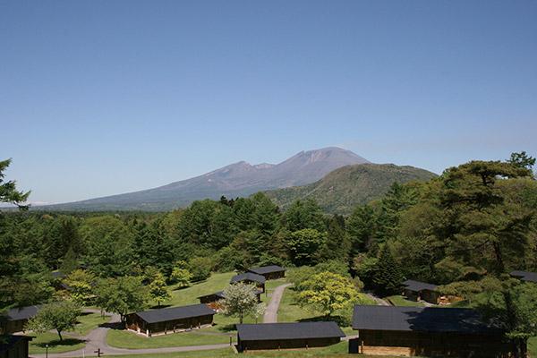 コテージから浅間山