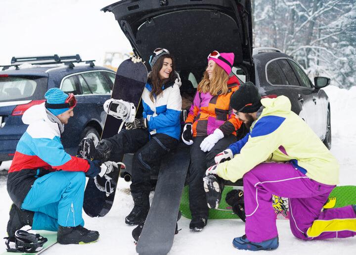 必読!車での移動・マイカーで<br>スキー場に行く前に「雪道仕様」にのイメージ