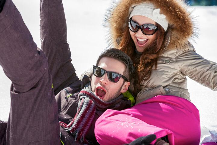 恋人とのスキー実力差…下手な方がむしろ楽しいかも!?のイメージ