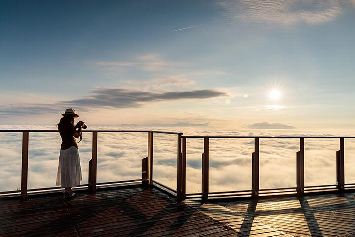 雲海の「SORA terrace-ソラテラス-」~竜王マウンテンパークの見どころはココ!のイメージ