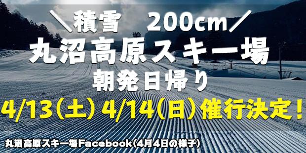 丸沼高原スキー場4/13・4/14出発催行決定