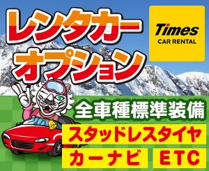雪道対策バッチリのレンタカーオプションでスキー場へGO!