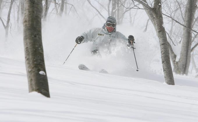 スキーを滑っているイメージ
