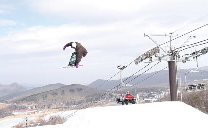 スキー 白樺 ヒル 湖 場 ロイヤル